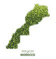 green leaf map morocco vector image vector image
