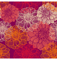 Hand-drawn flowers of dahlia Seamless pattern vector image