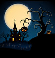 happy halloween dark poster vector image vector image