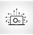 information technology vector image