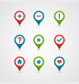 mapping pins icon vector image vector image
