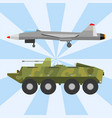military technic army war transport fighting vector image vector image
