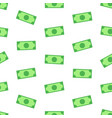money bank notes on white background seamless vector image