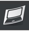 Monochrome laptop sticker vector image vector image