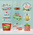 new year 2018 and christmas items for winter vector image vector image