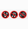 no music sound sign symbol sticker vector image vector image