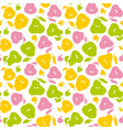 pear fruit seamless pattern for fabric background vector image vector image