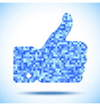 Pixelated thumb up vector image vector image