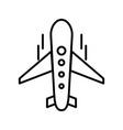 plane line black icon vector image vector image