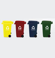 recycle bins vector image vector image