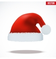Red Santa Claus hat vector image vector image