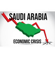 saudi arabia map financial crisis economic vector image