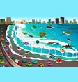 scene of tsunami vector image