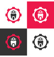 scooter motorcycle and gear logo design template vector image vector image