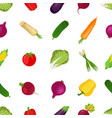 seamless pattern healthy vegetables farm product vector image vector image
