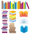 set book arrangements vector image vector image
