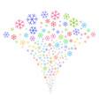 snowflake fountain stream vector image vector image