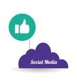 Social media design media icon communication vector image