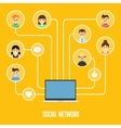 Social network banner with connected people vector image vector image
