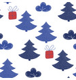 spruce valentines day seamless pattern vector image vector image