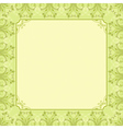 square green background with decorative ornate vector image vector image