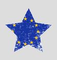star shaped grunge flag eu vector image vector image