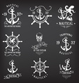 T-shirt design Nautical marine badge design vector image
