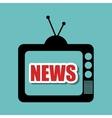 television retro black antenna graphic vector image vector image