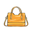 trendy glossy orange bag isolated vector image vector image