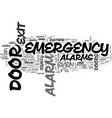 why do you need emergency exit door alarms text vector image vector image