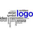 word cloud logo vector image vector image