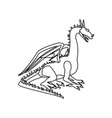 dragon beast mythology fantasy monster medieval vector image