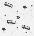 seamless pattern with bus vector image