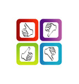 Like unlike logo or icon for web vector image