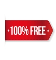 100 percent free red ribbon vector image