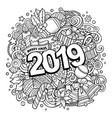 2019 doodles new year objects and