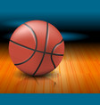 a basketball ball on a court vector image