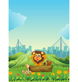 A snake a lion and a beaver vector image vector image