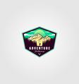 adventure travel badge vintage logo vector image vector image