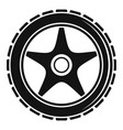 bike wheel icon simple style vector image