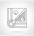 billiard balls and cue flat line icon vector image vector image