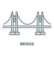 bridge line icon bridge outline sign vector image vector image