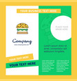 burger company brochure template busienss template vector image vector image