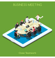 Business 02 People Isometric vector image vector image