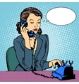 Business woman talking phone vector image vector image