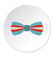 butterfly tie icon circle vector image