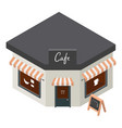 cafe building icon isometric style vector image
