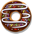 chocolate donut vector image