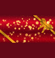 christmas banner with gold ribbon vector image vector image