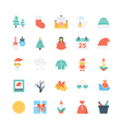 Christmas Colored Icons 2 vector image vector image